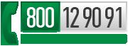 Chiama il Numero Verde Gratuito 800 12 90 91